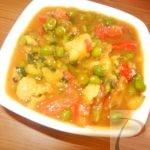 Aloo Matar Tamatar Sabzi आलू मटर टमाटर की सब्जी