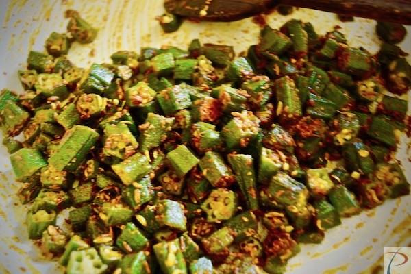 भिंडी मसाले में bhindi in masala