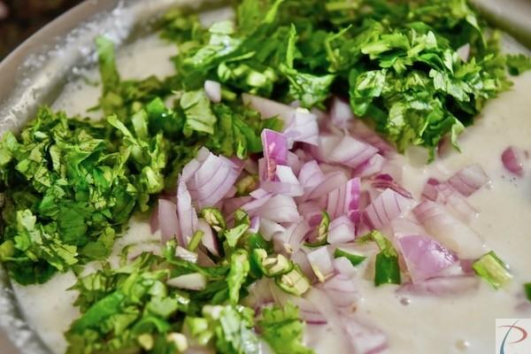 प्याज उत्तपम का पेस्ट onion uttapam paste