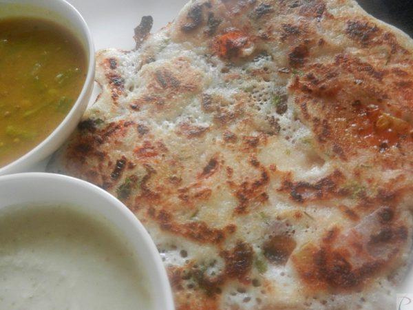 Tomato Onion Uttapam प्याज टमाटर उत्तपम
