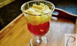 Fruit custard jelly फ्रूट कस्टर्ड जेली