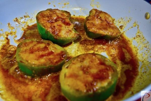 शिमला मिर्च मसाले में shimla mirch in masala