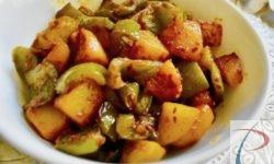 शिमला मिर्च आलू की सब्जी Shimla Mirch Aloo ki sabji