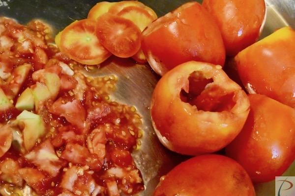 टमाटर और गूदा tomato and pulp