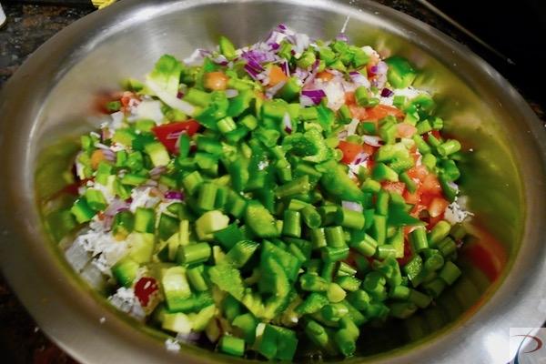 कटी हुई सब्जी chopped veg